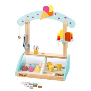 Summer is sweet. Wooden ice cream toy shop