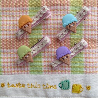 Ice-Cream Cone Hair Clip (Small)