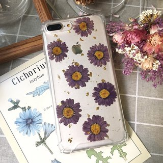 Violet Daisy :: Ultra Violet Pressed Phone Case