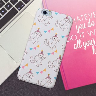 Plastic iPhone case - Party Cat -