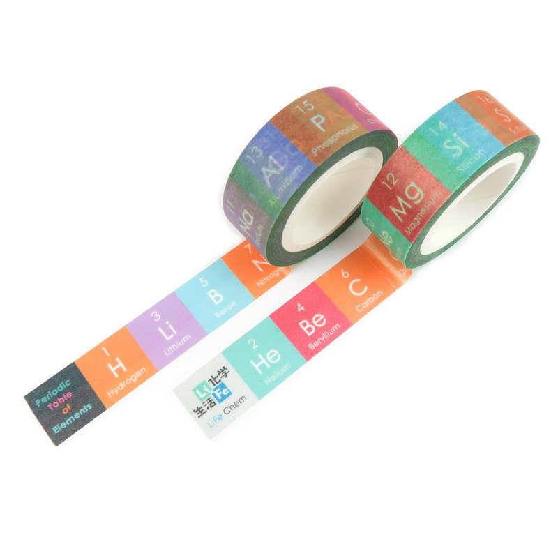 periodic table of elements paper tape two sets gift packaging