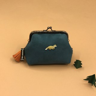 Little Fox Gold Coin Purse Sew Beads Coin Purse