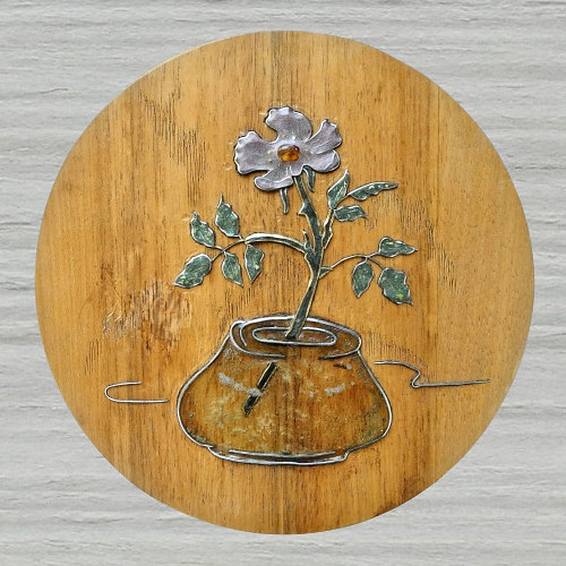 Wooden wall hanging decorative panel