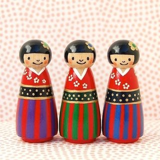 ◇ kimono three sisters Kokeshi ◇ second daughter