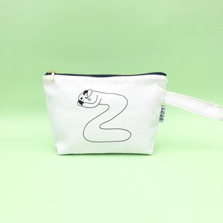 Zize ... Bald Embroidery Cosmetic Bag
