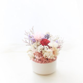 Flower Party Party Mini Table Flower, Yongsheng Mini Rose and Purple Star Graduation Flower Ceremony
