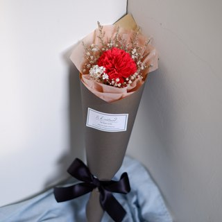 To Be Continued | Mother's Day Limited Red Carnation Dried Flower Cone Bouquet (Manual Carnation Flower Version)