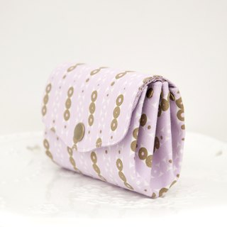 Elegant and beautiful three-layer small object storage coin purse - micro purple gold jade