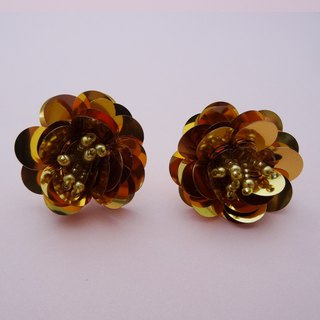 Spangle Flower Earrings / Gold
