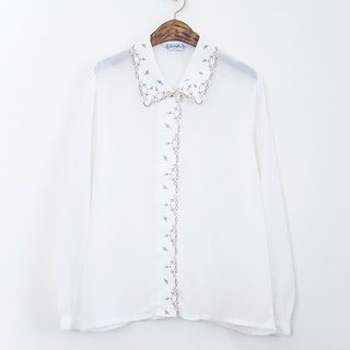Banana Flyin vintage old-fashioned long-sleeved white shirt