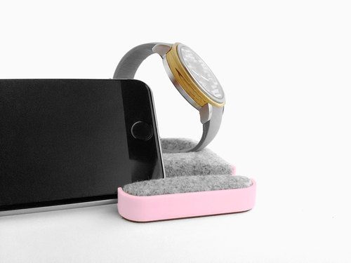 Unique multifunctional tray, Watch stand, Smartphone stand, Smart phone stand, Home sweet home Tray, Smartwatch, apple, iphone, dock【パステルピンク】
