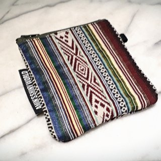 AMIN'S SHINY WORLD hand-made ethnic style weaving small change bag h