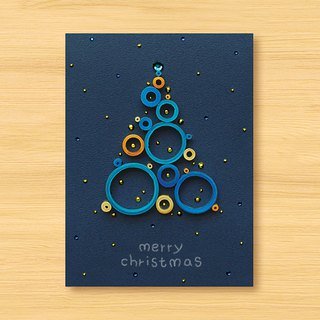 Handmade Roll Paper Stereo Cards_Starry Series - Blessings from afar ‧Fantasy Bubble Christmas Tree