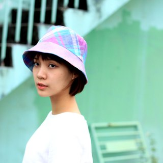 【The MAMA's Closet】Check(Purple)/ Sunhat