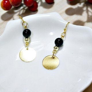 * _ * Black Barbie alloy hook earrings
