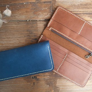 Handsewn Leather Wallet, Long Leather Wallet