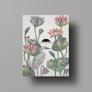 Auspicious Pattern Heron Illustration Postcard - All the Way