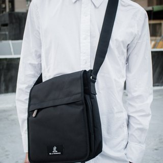 Black - Multi-layered waterproof side backpack / shoulder bag