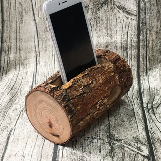 Wood for mobile phones sound reinforcement Block - natural simple style