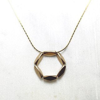 // brass necklace //