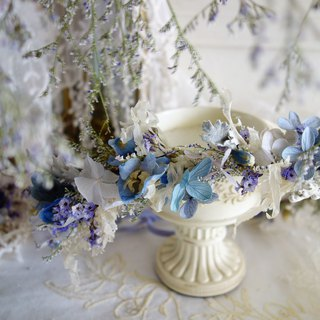 Wedding Floral Series ~ Romantic Blue Violet Garland