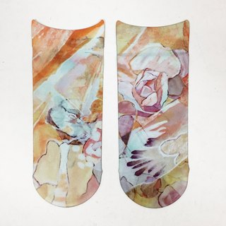 artist socks kei nakatani collage pattern print socks