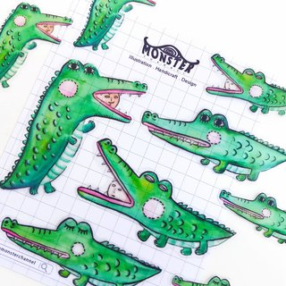 Hand Drawn Crocodile Sticker
