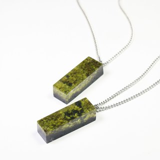 Under the sea - Necklace (from real moss & wooden)