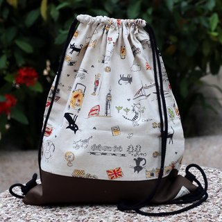 Silverbreeze~Bundle Back Backpack~Cats in the City (B18)