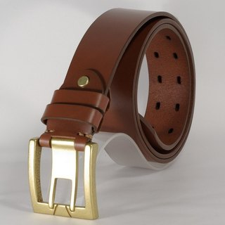 Handmade leather belts men and women leather belt brown 2L free customized lettering service