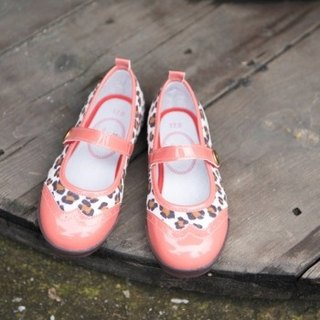 Eva squid powder orange oxford leopard print baby shoes (zero code special offer only accept returns)