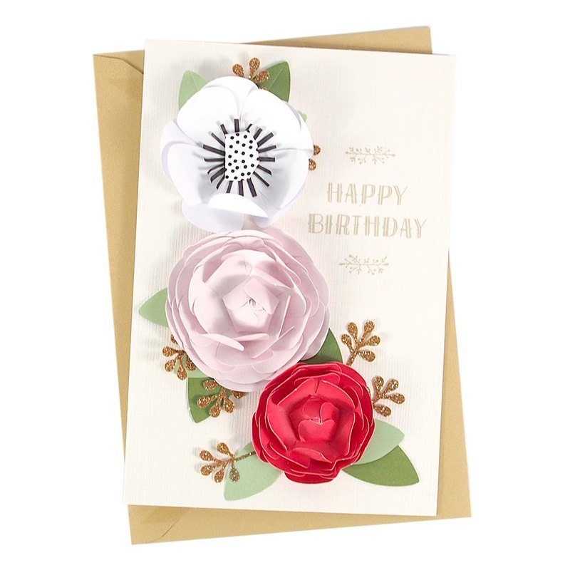 Blooming Flowers To Beautiful You Hallmark Signature Handmade Series Birthday Wishes