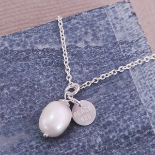 Sterling Silver Natural Pearl Clavicle Necklace