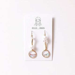 Transparent jingle drop ear hook handmade earrings can change folder / hypoallergenic silicone ear hook