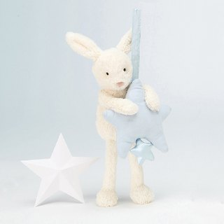 Jellycat Musical Pull Star Blue Bunny
