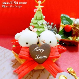 X Mrs.Tina ☆ ☆ dream left bank joint Christmas gift colorful fruit icing matcha [column] Bunny