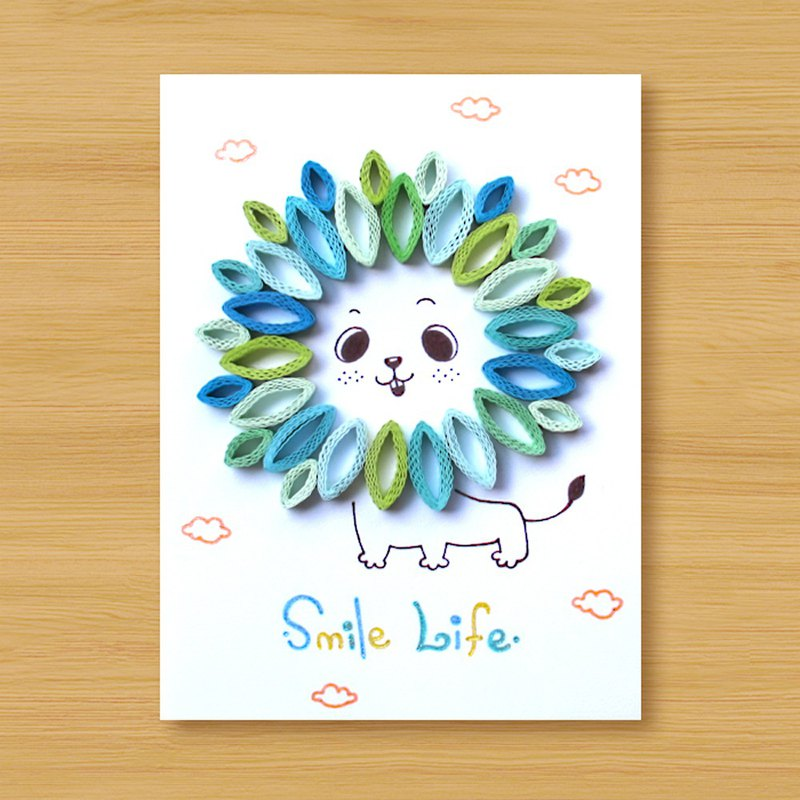 (4 models to choose from) Handmade Roll Paper Cards _ Little Lion Smile Life