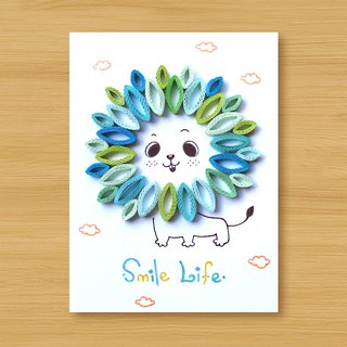 Handmade Roll Paper Card _ Little Lion Smile Life_A