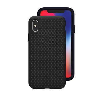 AndMesh-iPhone Xs Max dot soft crash protector - black (4571384958547