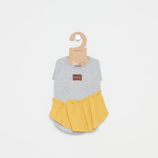 [Tail and me] pet clothes lotus leaf tops gray yellow