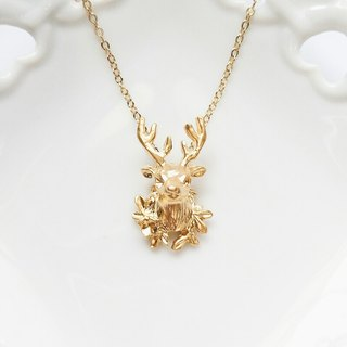 momolico necklace Deer head