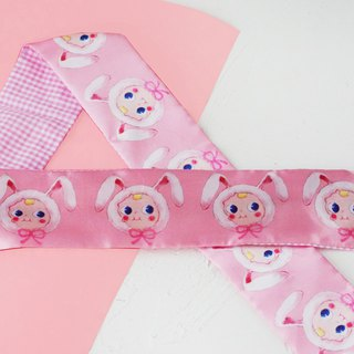 Ben Shou original handmade pink doll rabbit ear hair band