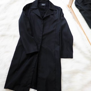 Kagoshima simple classic log antique thin windbreaker jacket trench_coat dustcoat