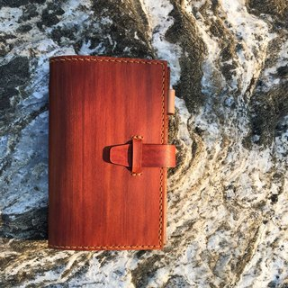 Simple │A7 six-hole loose-leaf notebook _ light tea wood grain