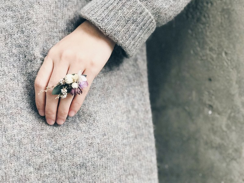 Dry Flower Ring!!【Guardian God-Hestia】Dry Flower Ring Valentine's Day Marriage