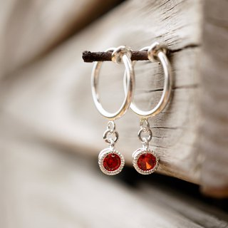 ITS-256 【Ear clip series shine youth】 2 color gold + transparent silver + red ear clip Ear hook earrings Valentine's Day gift