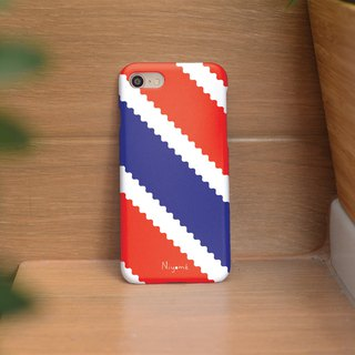 red blue zigzag iphone case สำหรับ iphone7 iphone 8 iphone 8 plus iphone x