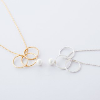 Flow line ring necklace / Flow Line Ring · Necklace