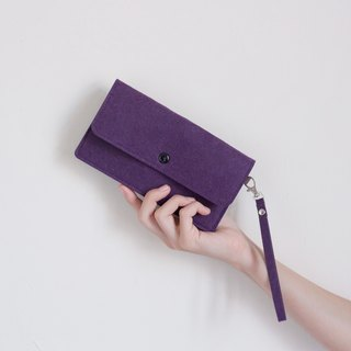 Simple wool mobile phone bag Phone package / wrist strap - deep purple witch purple