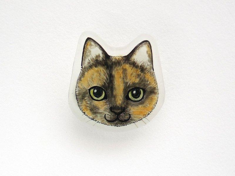 Cat Face Prabang胸針 -  Sabi-
